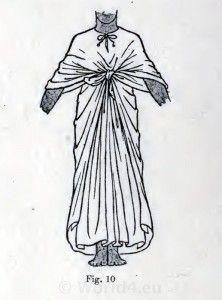 Egyptian dress, pharaoh robe and fancy dress pattern