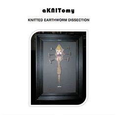 WHAT?!?!?!?  This is AWESOME!!!  Knitted Earthworm Dissection pattern by aKNITomy on Etsy, $2.00