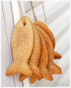 Fish cookies - Biscottini a forma di pesce #foodart #fishcookies #cookies