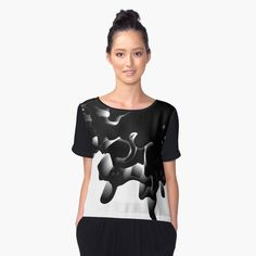 Chiffon Top by dahleea Chiffon Tops, 3d, Stuff To Buy, Dresses, Fashion, Masks, Gowns, Moda, La Mode