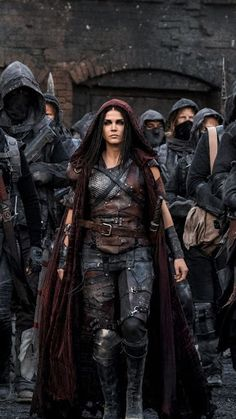 Marie Avgeropoulos as Octavia Blake in The 100 (CW Marie Avgeropoulos, Medieval Combat, The 100 Show, Medieval Fantasy, The Witcher, Larp, Female Characters, Character Inspiration, Science Fiction
