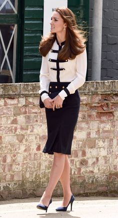 Pin for Later: Kate Middleton Didn't Wear a Single Bad Outfit This Year Kate Toured Bletchley Park, Where Her Grandmother Was a Codebreaker, Wearing a Chic Alexander McQueen Outfit