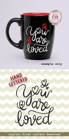 You are loved Valentines Day digital files png by LoveRiaCharlotte