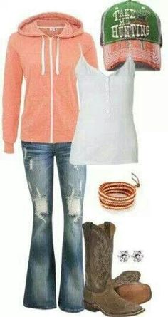Relaxing country girl outfit