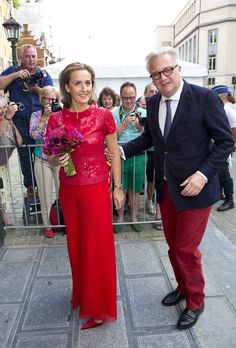 Prince Laurent and Princess Claire of Belgium attend pre-National Day concert July 20, 2014
