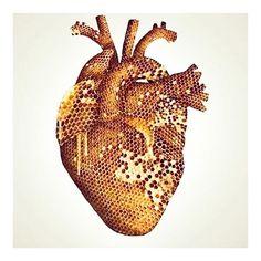 hello sweathearts 🍯 |#kommuneo or @kommuneo to share| #love #honey #heart #art