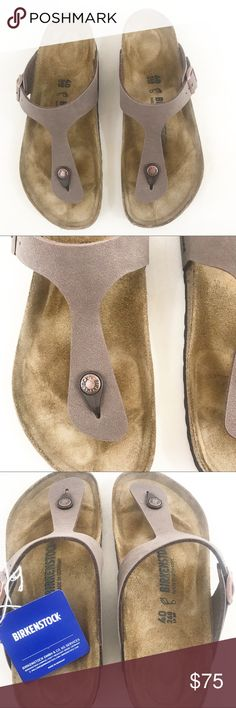 76972507811637 Birkenstock l Gizeh Sandals Popular Birkenstock Gizeh sandal. Mocca color.  Size 40 (US