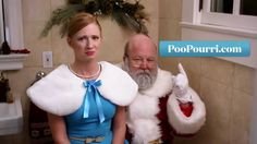 Poo Pourri is a great product that helps mask the smell of your poo. The folks at Poo Pourri are convinced everyone needs this, even Santa. Poo Pourri, Poop Jokes, Christmas Ad, Christmas Videos, Magical Christmas, Father Christmas, Christmas Morning, Holiday