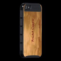 Brushed Copper iPhone 5 Cases, by Skinit.