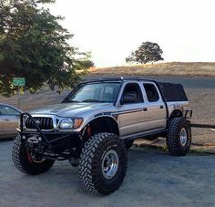 """Lifted Trucks Bigger Than Godzilla, They Are Cooler Than You Thought! If you' were to define the phrase """"truck"""" in one word, what might it be? Toyota Tacoma 4x4, Tacoma Truck, Toyota Hilux, Jeep Truck, Toyota Tundra, Mini Trucks, 4x4 Trucks, Custom Trucks, Lifted Trucks"""