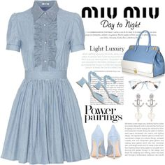 Day2Nite ..MIU MIU by conch-lady on Polyvore featuring Miu Miu, DayToNight and miumiu