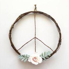 Peace Sign Wreath/Modern Wreath/Boho Wreath/Boho Chic