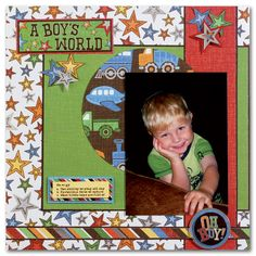 baby boy scrapbook page ideas | Papercrafting Ideas : Project Inspiration : Hobby Lobby - Hobby Lobby
