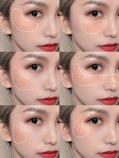 Makeup Eye Looks, Eye Makeup Art, Cute Makeup, Pretty Makeup, Contour Makeup, Skin Makeup, Ulzzang Makeup Tutorial, Makeup Looks Tutorial, Korean Eye Makeup
