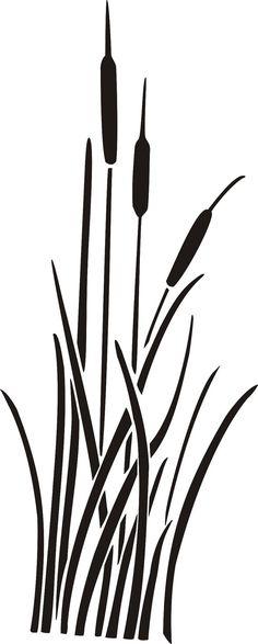 Plantilla de pared totora plantilla plantillas por ElegantStencils