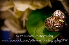 Both my husband and I graduated from Texas A&M University. Our photographer did a wonderful job of showcasing our Aggie rings, as well as, our wedding rings.