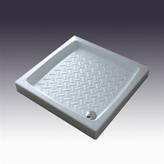 Brusekar Comino 72x72 cm i porcelæn. Enkelt og smukt. Made in Italy  DESIGN4HOME #brusekar #brusebund #badeværelse Design, Corning Glass