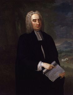 """Jonathan Swift: man of mystery. - About Jonathan Swift, a biographer is forced to speculate – his parents, his politics, his personality, his use of """"coffee"""" as a euphemism for sex. Saint Patrick, Satire, Man Of Mystery, Modest Proposal, Jonathan Swift, Gulliver's Travels, Writers And Poets, History Class, World Of Books"""
