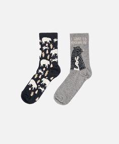 Bear and rabbit socks - OYSHO