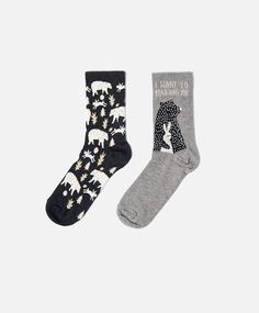 Chaussettes ours et lapin - OYSHO