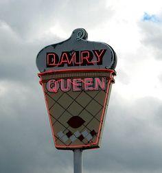 Vintage Dairy Queen sign, via Flickr.
