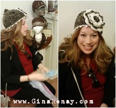 Julie is back!  Smiling pretty!  AweSome Crochet by Gina Renay  #hat #customer
