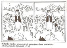 de herder heeft de schapen en de bokken van elkaar gescheiden zoek de 10 verschillen gelijkenis