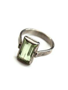 Green Topaz Ring - wings hawaii - Maui Jewelry, Handmade Jewelry
