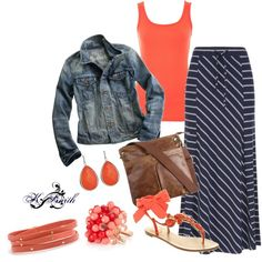 LOVE NAVY AND CORAL, created by kgdsmith on Polyvore