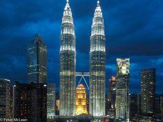 Petronas Towers at dusk, Malaysia.  Photo by TG member, Mac
