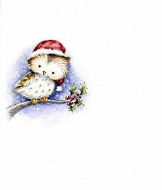 Christmas owl by Veronica Vasylenko Christmas Clipart, Christmas Animals, Christmas Printables, Christmas Pictures, Christmas Art, Winter Christmas, Vintage Christmas, Clipart Noel, Cute Clipart