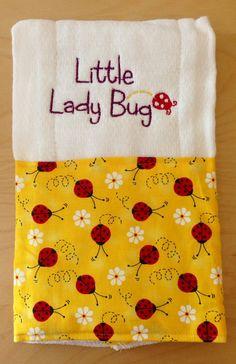 Little lady bug Little lady bug burp cloth by BrinleysBowtique32