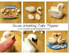 http://creatorsjoy.blogspot.fr/2013/02/polymer-clay-or-fondant-wedding-cake.html