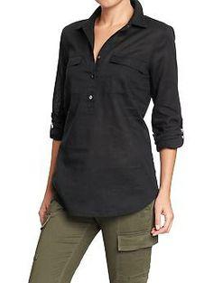 Women's Linen-Blend Pull-Overs | Old Navy