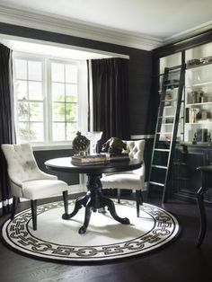 black & white library... I need a ladder to get to high places all the time; this seems like an ideal compromise...