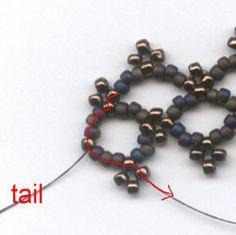 Full Instructions: Lattice Bracelet- Easy Single Needle Right Angle Weave. #Seed #Bead #Tutorials
