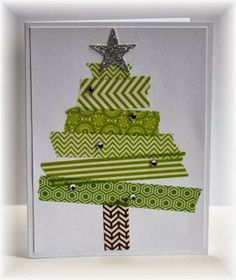 Scrappin' and Stampin' in GJ  TREE MADE FROM WASHI TAPE!