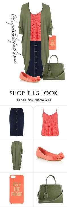 """""""Apostolic Fashions #1408"""" by apostolicfashions on Polyvore featuring Mint Velvet, maurices, WearAll, Red Herring, Kate Spade and Fendi"""