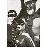 Get This Special Offer #10: Adam West Burt Ward Yvonne Craig 8x10 B&W Photo Batman TV 66 Batman Robin Batgirl Grey Background Wlo