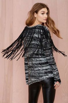 Blank NYC Flying Fringe Sweater - Pullover