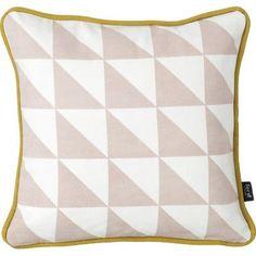 ferm LIVING Little Geometry Organic Cotton Throw Pillow Color: Rose