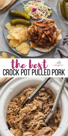 This Crock Pot Pulled Pork recipe is so easy and so flavorful! It starts with a … This Crock Pot Pulled Pork recipe is so easy and so flavorful! It starts with a garlic herb rub and hangs out in the slow cooker until it's fall apart tender. Crockpot Dishes, Crock Pot Cooking, Pork Loin Crockpot Recipes, Pork Roast Crock Pot, Crockpot Bbq Pork Tenderloin, Boneless Pork Loin Recipes, Bbq Pork Roast, Cooking Bacon, Pork Ribs