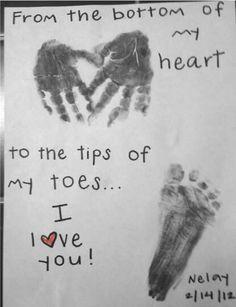 Hand & feet heart prints