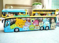 Disney App Game Tsum Tsum Toy Vehicle Pullback Action Car - Tourist Bus #Disney