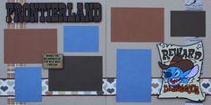 "12""x12"" layout kit:  Frontierland... Reward Dangerous"