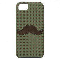 Trendy Handlebar Mustache Moustache Stache iPhone 5 Cases