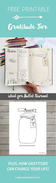 Bullet Journal Gratitude Printable