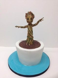There are few things that make me happier than Baby Groot! cake by Cinnamon Square