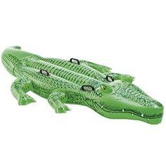 Intex Gator Giant Inflatable Swimming Pool Ride-On Raft Green Piscina Intex, Fin Fun, Swimming Pool Exercises, Swimming Pools, Crocodile, Sports Nautiques, Wakeboard, Pool Rafts, Kid Pool