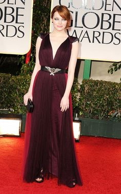 Emma+Stone's+19+Red+Carpet+Risks+That+Seriously+Paid+Off+via+@WhoWhatWear